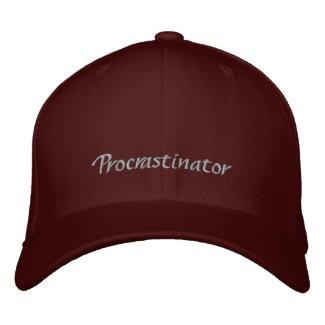 Procrastinator Cap / Hat embroideredhat