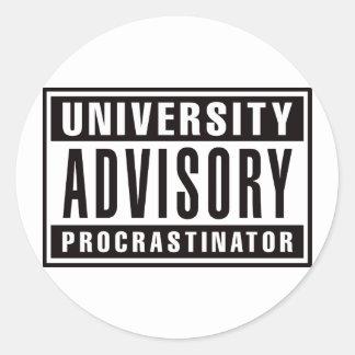 Procrastinator del Advisory de la universidad Pegatina Redonda
