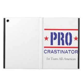 PROcrastinator_First Team All American_on white iPad Air Cover