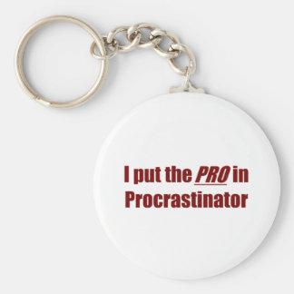 Procrastinator Llavero Redondo Tipo Pin