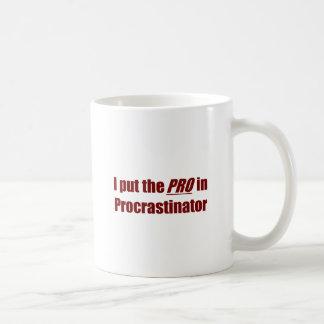 Procrastinator Taza Clásica