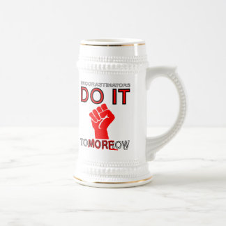 Procrastinators do it tomorrow coffee mugs