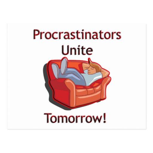 Procrastinators Unite Post Cards