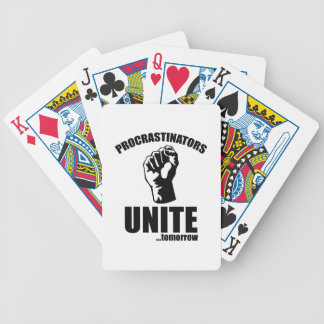Procrastinators Unite ... Tomorrow Bicycle Playing Cards