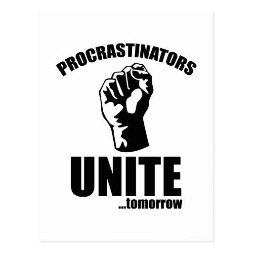 Procrastinators Unite ... Tomorrow Post Card