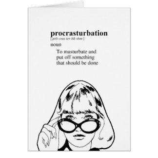 PROCRASTURBATION CARD