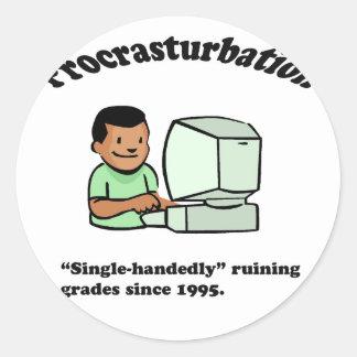 Procrasturbation! Classic Round Sticker