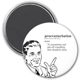 PROCRASTURBATION FRIDGE MAGNET