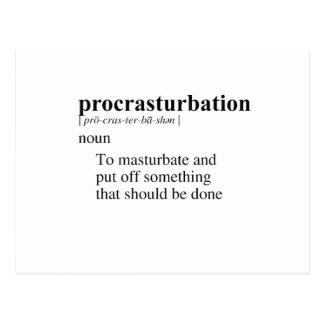 PROCRASTURBATION POSTAL