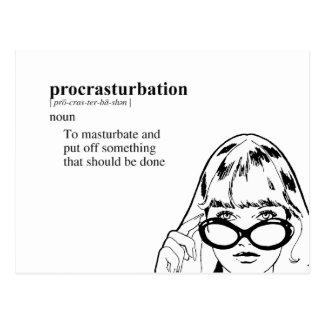 PROCRASTURBATION POSTCARD