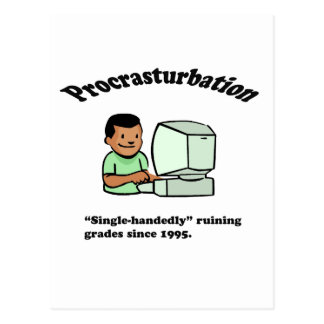 Procrasturbation! Postcard