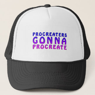 Procreaters Gonna Create Baby Shower Announcement Trucker Hat