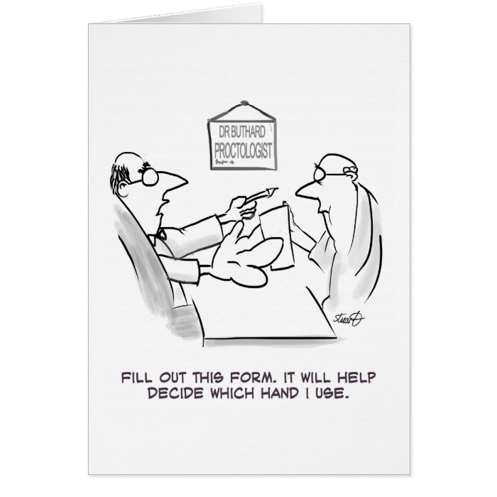 Proctologist Examination Card