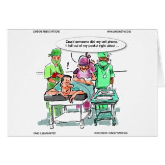 Proctologist Loses Cell Phone Funny Card