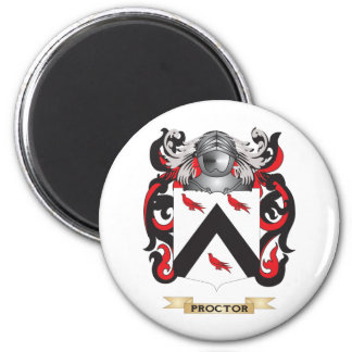 Proctor Coat of Arms (Family Crest) 2 Inch Round Magnet