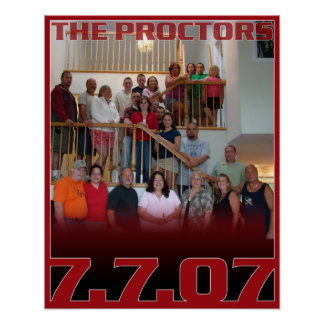 Proctor Family Reunion Poster