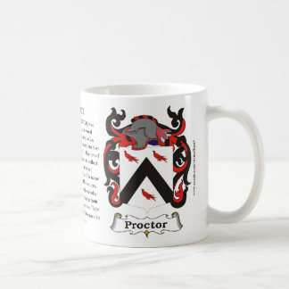 Proctor, History, Meaning and the Crest Coffee Mugs