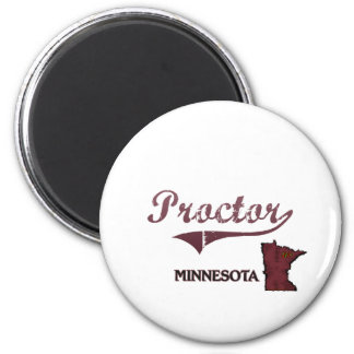 Proctor Minnesota City Classic 2 Inch Round Magnet