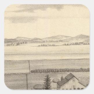 Proctor res, farm square sticker