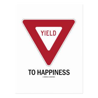 Producción a la felicidad (muestra de producción d tarjeta postal