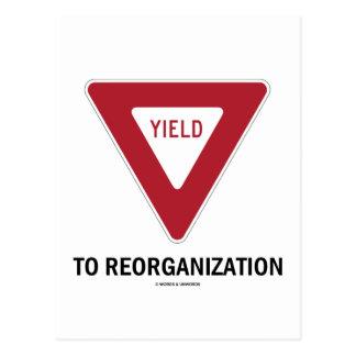 Producción a la reorganización (humor de la muestr postales