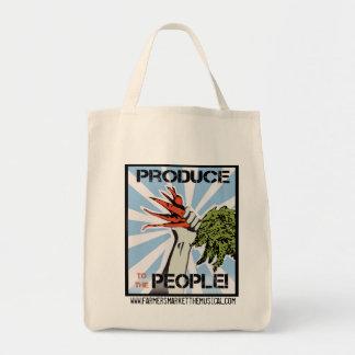 Producción al bolso de ultramarinos reutilizable d bolsa de mano