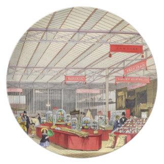 Producción colonial en la gran exposición de 1851, plato para fiesta