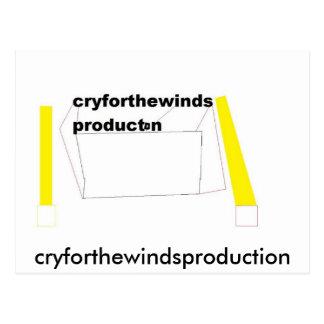 PRODUCCIÓN, cryforthewindsproduction Postal