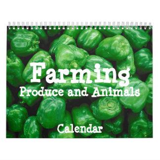 Producción de cultivo y calendario de los animales