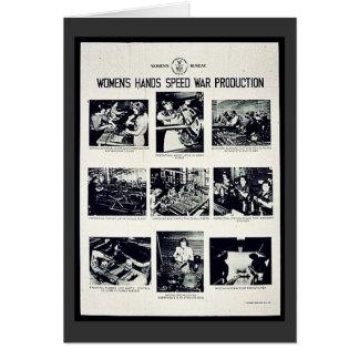 Producción de la guerra de la velocidad de las man tarjetas