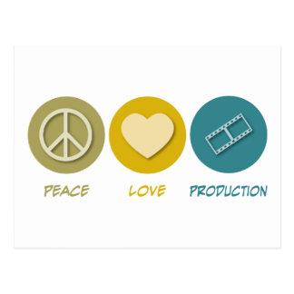 Producción del amor de la paz postales