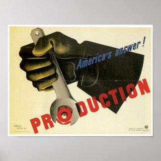 ¡Producción del ~ de la respuesta de América! Póster