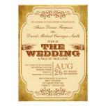 Producción del teatro del boda del vintage invitacion personal