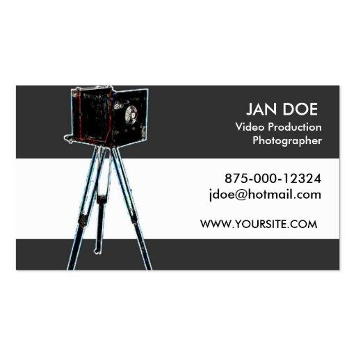 Producción del vídeo de la fotografía tarjetas de visita