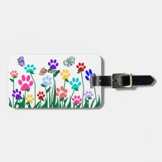 Producción en masa del jardín de flores de la etiquetas de equipaje