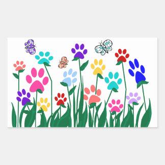 Producción en masa del jardín de flores de la pegatina rectangular
