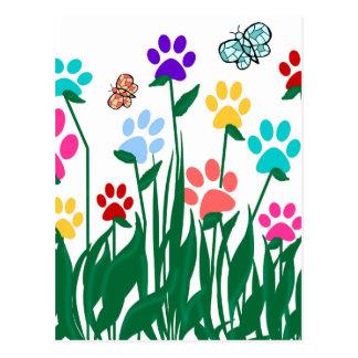 Producción en masa del jardín de flores de la postal