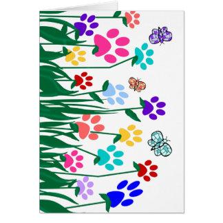 Producción en masa del jardín de flores de la tarjeta de felicitación