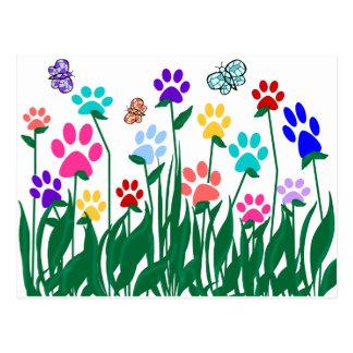 Producción en masa del jardín de flores de la tarjetas postales