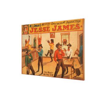 Producción espectacular occidental de Jesse James Impresión En Lienzo