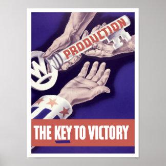 Producción la llave a la victoria -- WW2 Póster