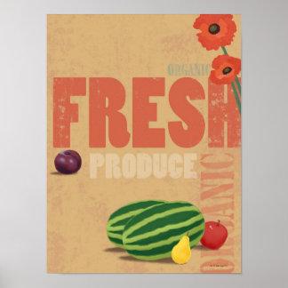 Producción orgánica poster