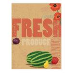 Producción orgánica tarjeta postal