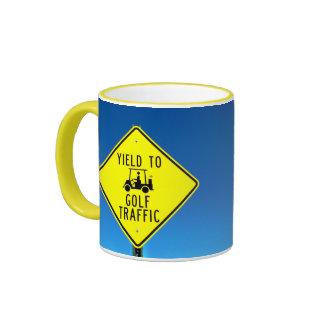 Producción para golf tráfico tazas de café
