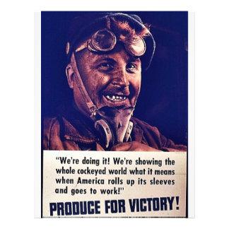 """¡Producción para la victoria! Folleto 8.5"""" X 11"""""""