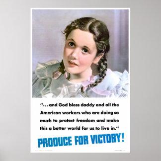 Producción para la victoria posters