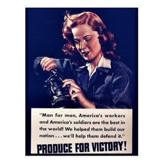 ¡Producción para la victoria! Tarjetas Postales