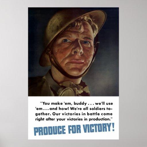 ¡Producción para la victoria! WW2 Posters
