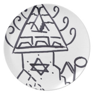 Producción piramidal del modelo platos para fiestas