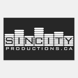 Producciones de Autocollants SinCity Rectangular Pegatinas
